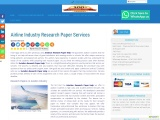 Airline Industry Research Paper Services