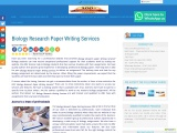 Biology Research Paper Writing Services