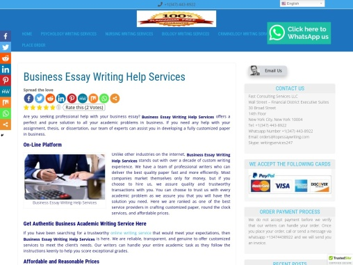Business Essay Writing Help Services