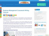 Business Management Coursework Writing Services