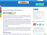 Case Study Assignment Services
