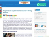 Cognitive and Experimental Coursework Writing Services