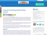 Corporate Social Responsibility Writing Services