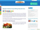 Nutrition Science Essay Writing Help Services