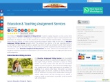 Education & Teaching Assignment Services