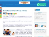 Ethics Research Paper Writing Services