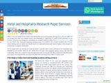 Hotel and Hospitality Research Paper Services
