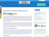 Information Technology Writing Services