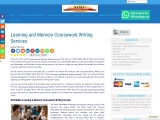 Learning and Memory Coursework Writing Services