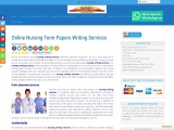 Online Nursing Term Papers Writing Services