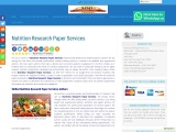 Nutrition Research Paper Services