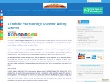 Affordable Pharmacology Academic Writing Services