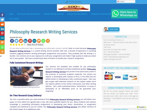 Philosophy Research Writing Services
