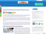 Public Health Research Paper Writing Services