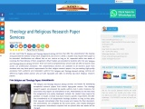 Theology and Religious Research Paper Services