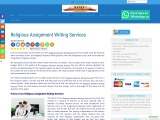 Religious Assignment Writing Services