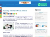 Sociology Term Paper Writing Services