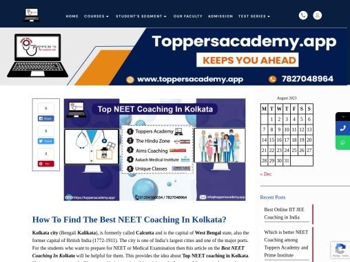 Best Neet Coaching class in Kolkata for NEET, AIIMS