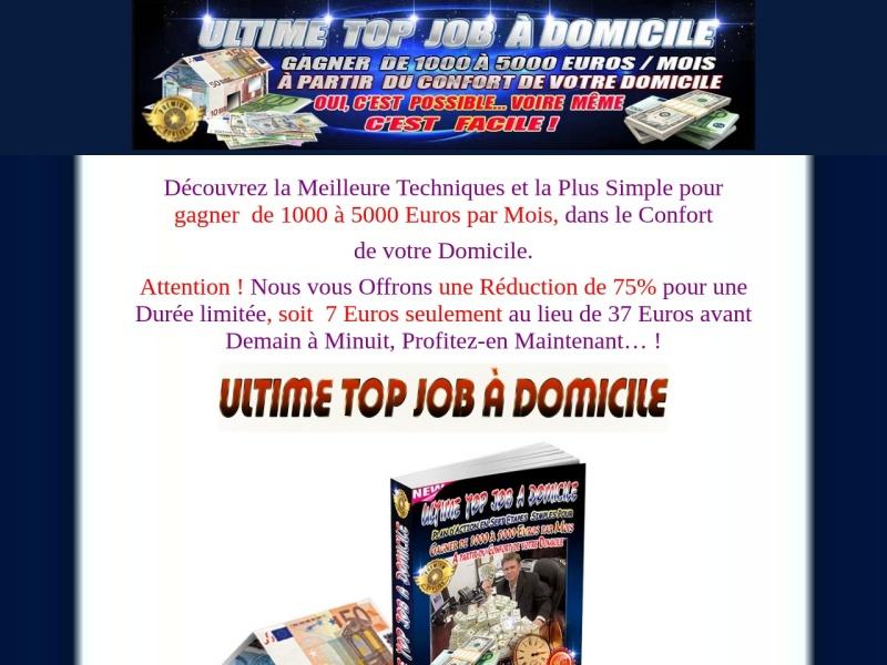 ultime top job a domicile - 5000 euros par mois