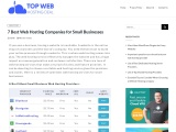 Top web hosting companies for small business