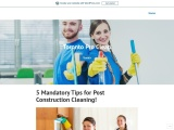 5 Mandatory Tips for Post Construction Cleaning!