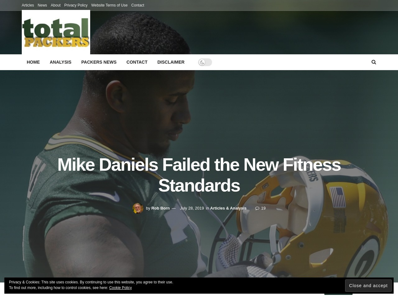 Mike Daniels Failed the New Fitness Standards