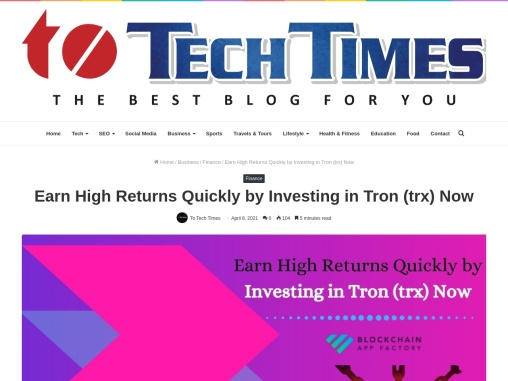 Move Ahead of Your Rivals by Initiating Tron Platform Development Soon