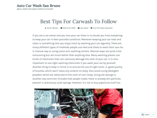 Best Tips For Carwash To Follow