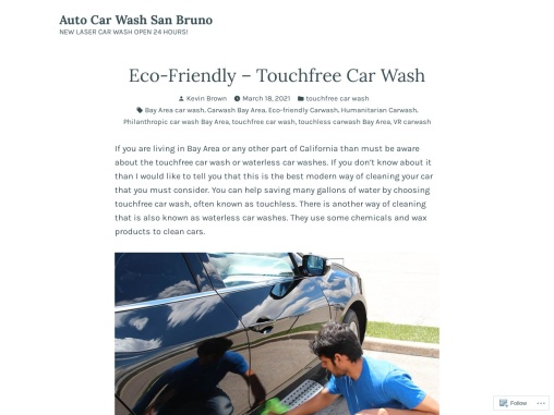 Eco-Friendly – Touchfree Car Wash