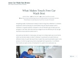 Why Touch Free Wash Service is Best?