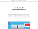 6 Key Elements of Air Conditioning Maintenance
