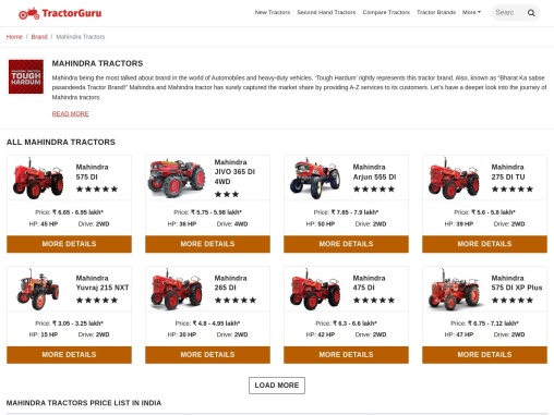 Mahindra Tractor Price, Specifications and Reviews in 2021