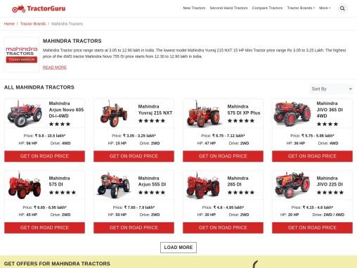 Mahindra Tractors Price in India