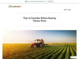 Tips to Consider Before Buying Tractor Parts