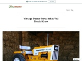 Vintage Tractor Parts: What You Should Know
