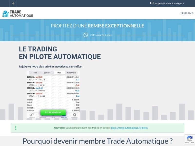 trade automatique formation#cg