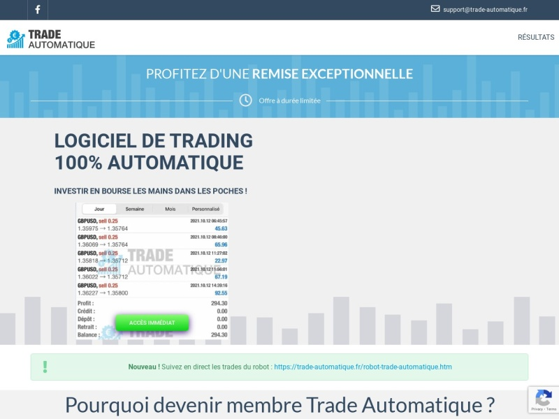 [#promo] robot de trading automatique !