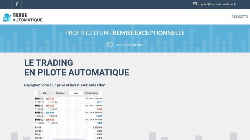 promo robot de trading automatique
