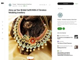 Amp-up Your Bridal Outfit With A Timeless Wedding Jewellery