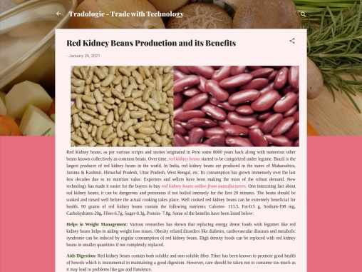Red Kidney Beans online From Manufacturers