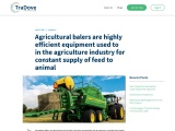 In agriculture, agricultural balers are highly efficient equipment that provide constant feed to ani
