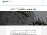 Why Are Foreign Banks Leaving India?