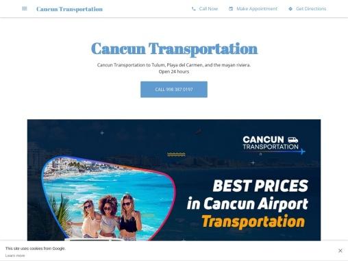 Transportation In Cancun | The best Cancun Airport Shuttle