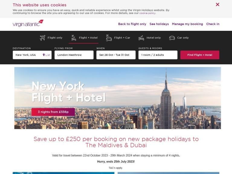 Virgin Atlantic screenshot