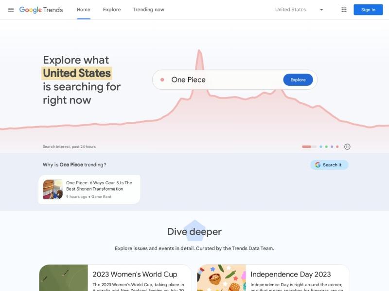 Google トレンド | Googleで検索されるキーワードからトレンドが分かる