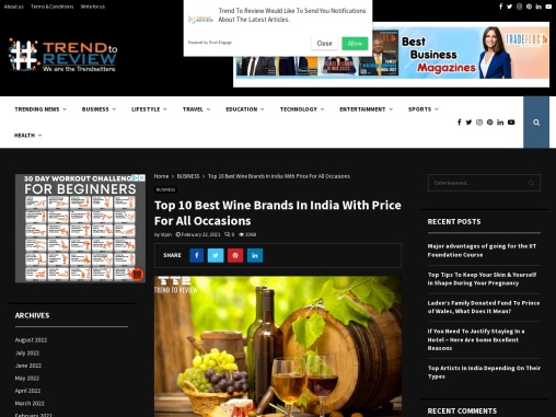 The Best Wine Brands in India | Trend to Review