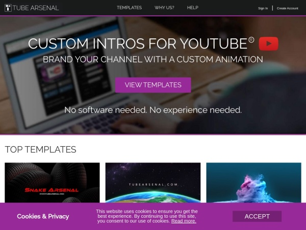 Tube Arsenal  - Free and Best YouTube Intro Maker (2020)