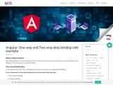 Angular: One-way and Two-way data binding with example