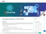 Clevertap Integration in React Native