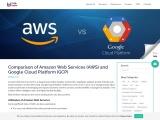 Comparison of Amazon Web Services (AWS) and Google Cloud Platform (GCP)